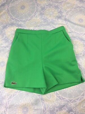 Vintage 1960s Haymaker Lacoste Green Golf Shorts Size 12 Womens