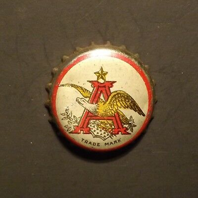 Old Cork Backed Beer Bottle Crown - Anheuser Busch #1 St. Louis, MO No Reserve!