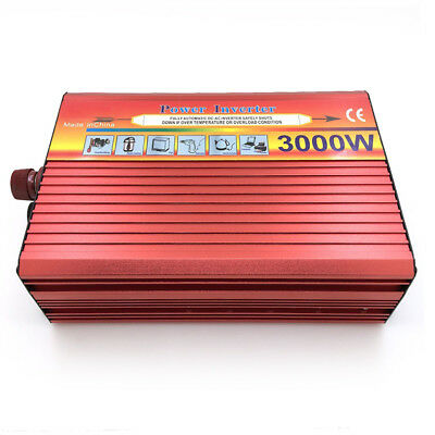 3000W Watts Real 1500W Power Inverter Converter 12V DC to 220V AC Charger tb2