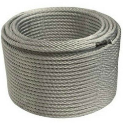 "ALEKO WR3/8G7X19250 3/8"" 7 x 19 Galvanized Aircraft Steel Cable Wire Rope 250"
