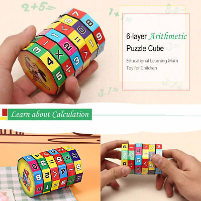 6-layer 7.2cm Height Puzzle Cube Kids Education Learning Math Toy for Children