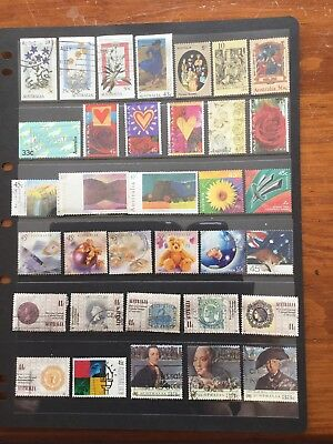 34 Used Stamps From Australia