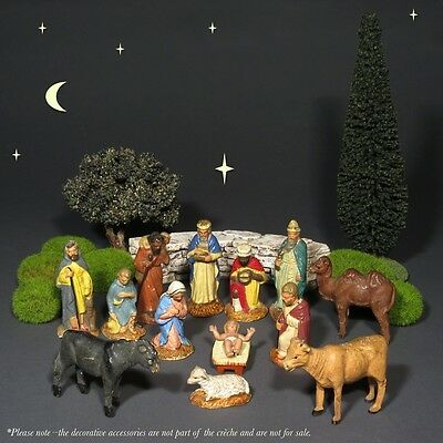 Old French Provence Santons Christmas Nativity Figurines Crèche, 13 pcs