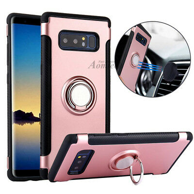 For Samsung Galaxy Note 8 Case Ring Stand Armor Rugged Protective Phone Cover