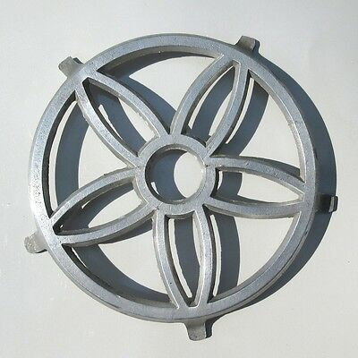 Vintage French Cast Aluminum Trivet, Flower