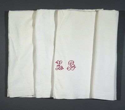 AntiqueFrench Sheet, Monogrammed, 134 x 86 ½ Inches
