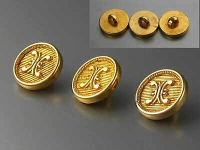 Antique French Gilded Buttons, 3 pcs