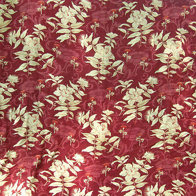 """Vintage FrenchPrinted Fabric, Bedspread, Bed Cover, Coverlet, Flowers, 97 x 94"""""""