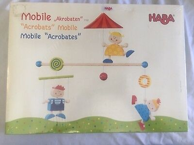 """BRAND NEW HABA """"Acrobats"""" Child's Wooden Figure Hanging Crib Mobile Decoration"""
