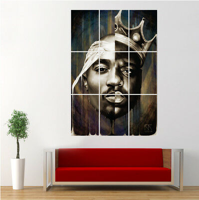 Notorious B.I.G Biggie Smalls 2PAC Tupac Shakur Poster Giant Wall Art Print