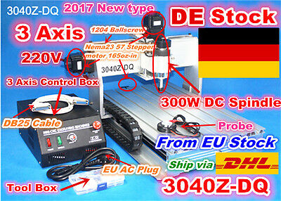 (DE Stock)3040Z-DQ 3Axis 300W CNC Router Engraver Engraving Milling Machine 220V