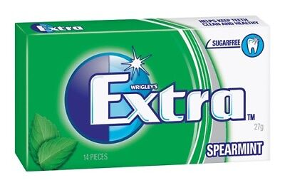 Wrigley's EXTRA Spearmint FLAVOUR SUGARFREE CHEWING GUM 48x14pcs