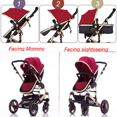 4IN1Baby Joddger Stroller Newborn Carriage Infant Travel Foldable Pram Pushchair