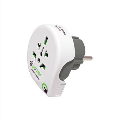 q2power World Plug Reiseadapter to GER