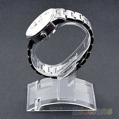 Holder Sale Show Case Stand Too lNew Clear Plastic Wrist Watch Display Rack