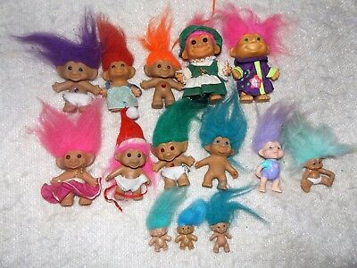 Vintage COLLECTION OF RUSS TROLL DOLLS  X 14