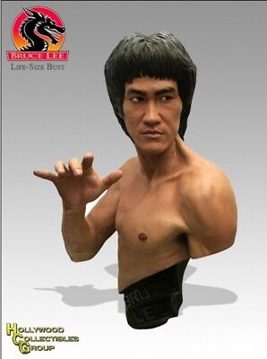 """Bruce Lee Lifesize 1/1 Scale Bust Statue 29"""" 74cm Hollywood Collectibles Group"""