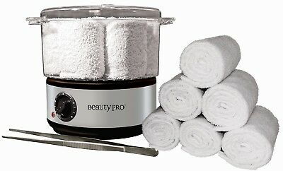 Beauty Pro - Hot Towel Warmer Steam Kit - Tongs & Towels included