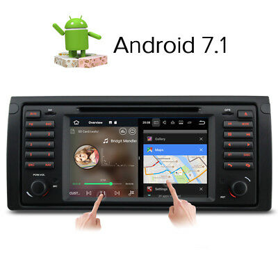 7'' Android 7.1 Car DVD Player sat nav GPS FOR BMW 5 series E39 E53 X5   DAB+