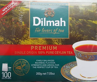 Dilmah Premium Ceylon Tea 100 Teabags (Buy 2 or more, Save 50% ship.cost on 2nd