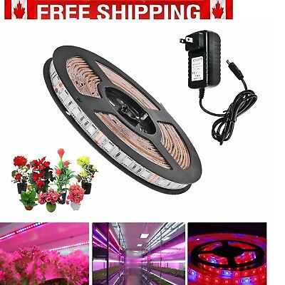 Topled Light® LED Plant Grow Strip Light with Power Adapter Full Spectrum (2M)