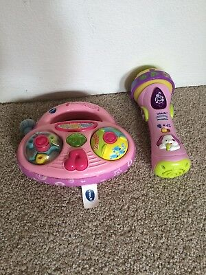 vtech microphone and stereo pink
