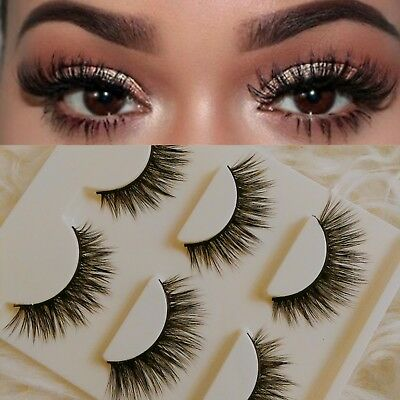 💕TOP SELLING 3/6 Pairs 3D Mink Fur lashes Or 5 pairs False Eyelashes d6