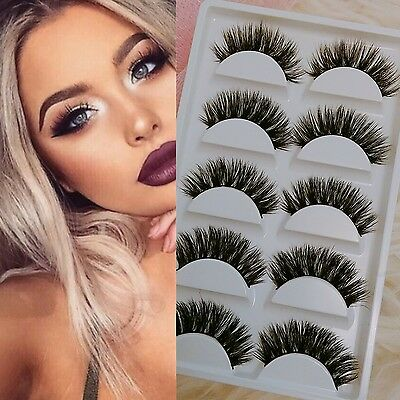 5 Pairs Mink lashes 3D full volume false eyelashes ~NEW ARRIVAL