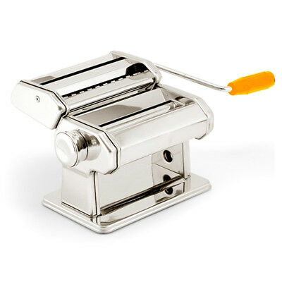 FP Pasta Maker Noodle Machine Spaghetti Clamp Fettuccine Roller Stainless Steel