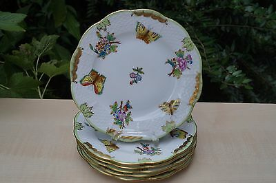 "Herend VBO Queen Victoria  patterned plates 6 pcs 6"" wide"