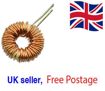 2x Toroid Core Inductors Wire Wound for DIY mah--100uH 6A Coil