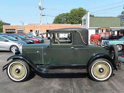 1928 Chevrolet National Series AB 3-Window Coupe 1928 Chevrolet National Series AB 3-Window Coupe 71,745 Miles Green Coupe 4 CYL