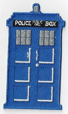 Dr Who Tardis Iron On Or Sew On Patch  4 Inch X 2.025 Inches