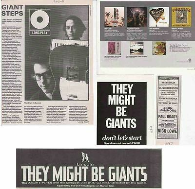THEY MIGHT BE GIANTS : CUTTINGS COLLECTION -adverts-