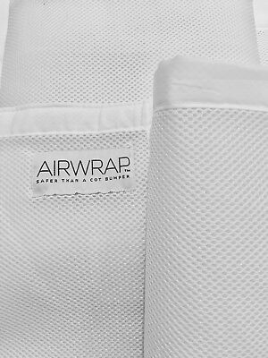 Airwrap Four-Sided Cot Bumper, White
