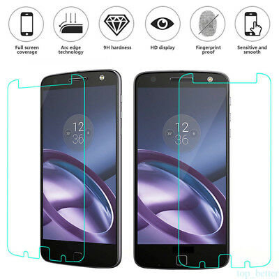 9H Premium Tempered Glass Screen Protector Guard Shield Saver Fr Motorola Moto Z