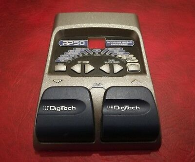Digitech RP50 Modeling Guitar Processor - Multi FX effects pedal with 9v PSU