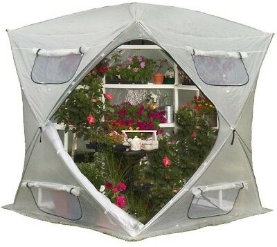 FlowerHouse Pop-Up Greenhouse Portable UV Resistant Rip Stop Fabric 7 ft x 7 ft