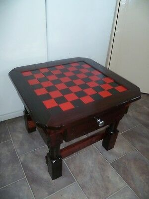 """VINTAGE """"CHESS TABLE with 2 DRAWERS"""" - 30 YO - EXTREMELY SOLID - E.C-Great Gift"""
