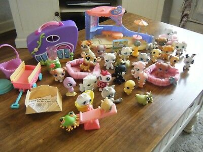 Bundle Of 29 Littlest Pet Shop Figures And Accessories