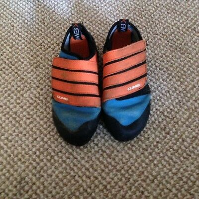 climbing shoes size 2.5  nearly new  orange and blue