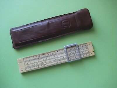 Vintage USSR Russian pocket rietz slide rule with leather case