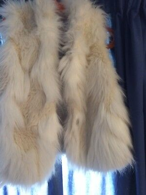Girls Next 3-4 faux fur gilet cream