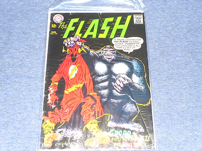 The Flash #172 SILVER Age DC Comics 1967 VERY RARE ! GRODD PUTS THE SQUEEZE !!