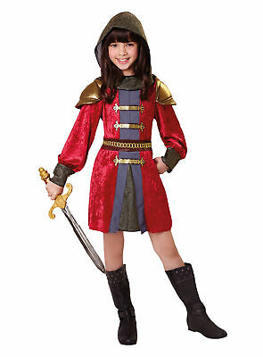 Knight Princess Kids Fancy Dress Costume Medieval Childs Girls Outfit