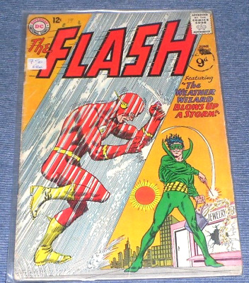 The Flash # 145# 1964 THE WEATHER WIZZARD BLOWS UP A STORM ..6.5 SORT AFTER