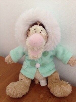 Disney Tigger Mint Green Duffel Coat Winter Christmas Soft toy plush FREE p&p