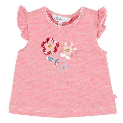 Bebe by Minihaha Baby Girls Sage Sequin Flower Tee