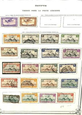 [OP3129] Egypt lot of stamps on 12 pages - see photos in description