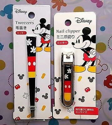Kawaii Mickey Mouse Tweezers Finger Toe Nail Cutter Set Fast Free Shipping Japan